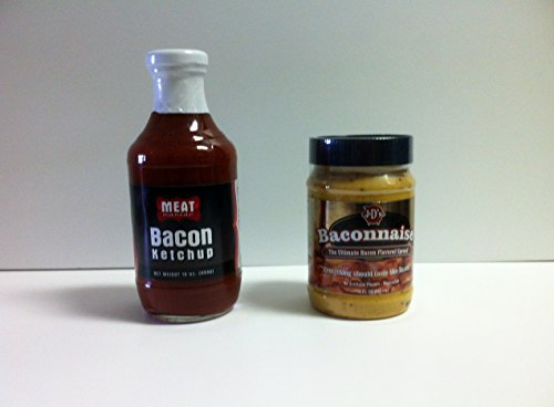 MEAT MANIAC Bacon Sauce Lovers Combo Gift Pack- Meat Maniac Bacon Ketchup (16oz) & Baconnaise (Baconnaise Bacon)