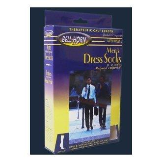 Men's Executive 20-30 mmHg Stripes Sock in Black Size: Small