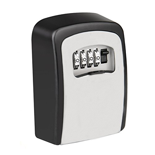 KIPRUN Key Storage Lock Box, 4-Digit Combination Lock Box, Wall Mounted Lock Box, Resettable Code (Circular) by KIPRUN (Image #7)