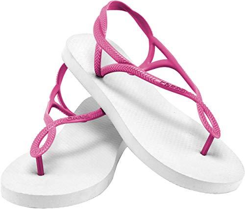 Cressi Infradito Flop With Donna 35 Flip rosa Strap Bianco Ciabatte 36 Marbella Lady B0Bqr