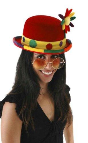 Hat Bowler Velvet (elope Clown Bowler Hat)