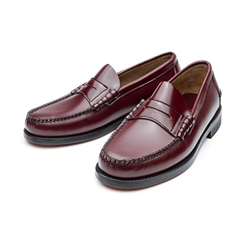 Castellano® 1920 Madrid Men's Hand Made Leather Penny Loafers Burgundy