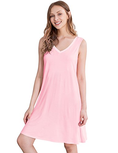GYS Womens Viscose Sleeveless Nightgown product image