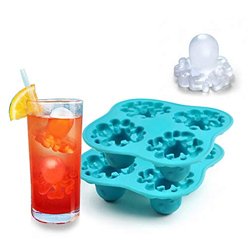 MoldFun 2 Pack Octopus Ice Cube Tray TPE Material Molds
