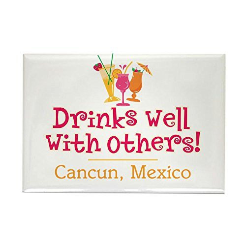 CafePress Drinks Well_Cancun - Rectangle Magnet Rectangle Magnet, 2