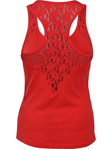 VERO MODA Damen Top Vmmaxi My Soft Lace Boxer Top, Größe:L, 36487-:Poppy Red (10170567)