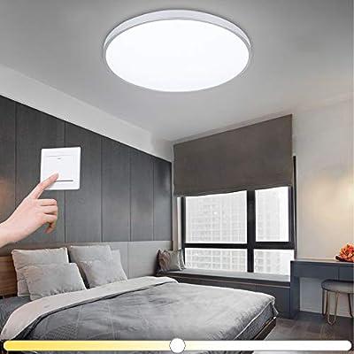 Vingo® 50 W – Lámpara LED de techo Luz Blanca Blanco Cálido Blanco Neutro 3 en 1 Cambio de color salón dormitorio lámpara de cuarto de baño lámpara ...
