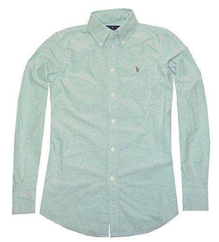 Polo Ralph Lauren Womens Custom Fit Oxford Button Down Shirt (X-Small, Green) by RALPH LAUREN