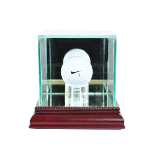 - Perfect Cases PGA Golf Ball Glass Display Case, Cherry