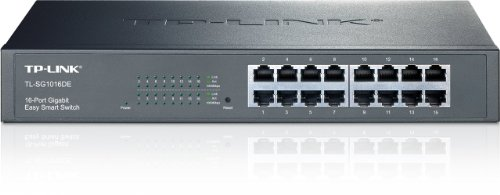 TP-LINK TL-SG1016DE 16-Port Gigabit Easy Smart Switch with 16 10/100/1000 Mbps RJ45 Ports, MTU/Port/Tag-Based VLAN, QoS and IGMP, Best Gadgets