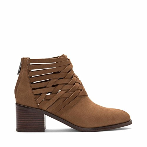 1.STATE Womens Iliza Fabric Almond Toe Ankle Fashion Boots, Mouse, Size 6.5