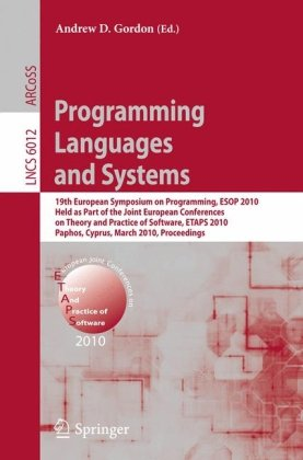 [PDF] Programming Languages and Systems Free Download | Publisher : Springer | Category : Computers & Internet | ISBN 10 : 3642119565 | ISBN 13 : 9783642119569