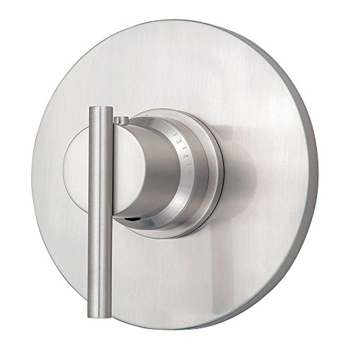Danze D562058BNT Parma Single Handle 3/4-Inch Thermostatic Shower Valve Trim Kit, Valve Not Included, Brushed Nickel - 4in Thermostatic Shower