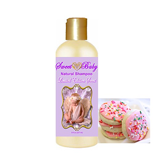 Sweet Baby Shampoo (Sugar Cookie 8 oz.), Sulfate Free, No Parabens, Phthalates, Dyes, Endocrine Disruptors, SLS Free, Vegan, Natural