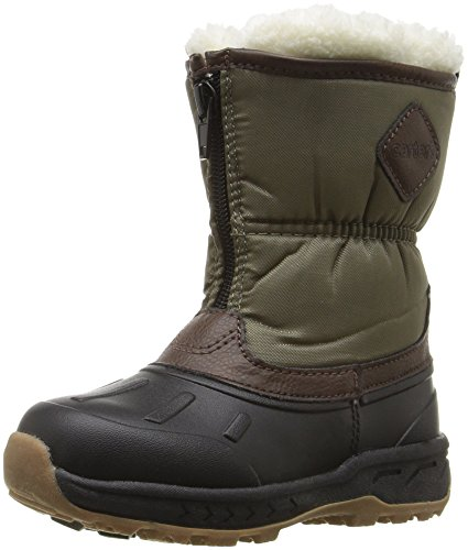 [carter's Boys' Zipup Boot, Black/Brown/Khaki, 7 M US Toddler] (Boys Boots Sale)