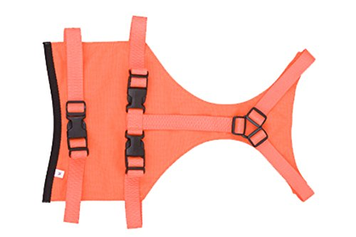 Large Mendota Products Skid Plate Dog Chest Predector, orange