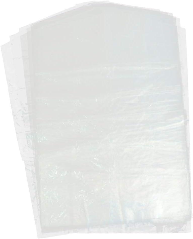 F Fityle 10 Pcs Cubierta de Bolsa de Ropa Fundas de Trajes Desechables Plástico Colgante - 60x120cm