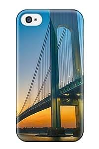 9066487K74692712 Excellent Iphone 4/4s Case Tpu Cover Back Skin Protector Verrazano Narrows Bridge