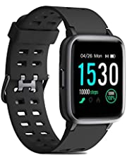 CHEREEKI Fitness Watch, IP68 Waterproof Fitness Tracker with Heart Rate Monitor, Sleep Monitor, Pedometer, Music Control and 1.3 Inch Touch Screen for IOS Android Smartphones Men Women