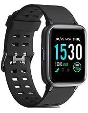 CHEREEKI Smartwatch mit Pulsmesser, Fitness Armband Wasserdicht IP68 Fitness Tracker 1,3 Zoll Farbbildschirm Aktivitätstracker Schrittzähler Anruf und Nachrichten Abrufen Fitness Uhr für Damen Herren