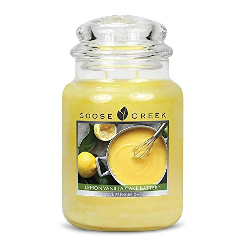 Goose Creek Candle Large Jar Candle, Lemon Vanilla Cake Batter