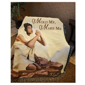 African American Expressions - Mold Me, Make Me Tapestry Throw (100% Cotton, 4' x 5') TH-28