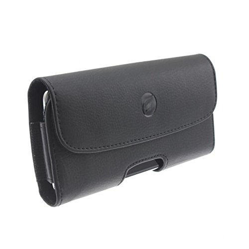 Black Leather Phone Case Side Cover Pouch Belt Holster Clip for AT&T Amazon Fire Phone - AT&T iPhone X - AT&T HTC One A9 - AT&T HTC One M9