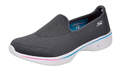 Skechers Performance Women's Go Walk 4 Pursuit Walking Shoe, Charcoal Multi, 9.5 M US