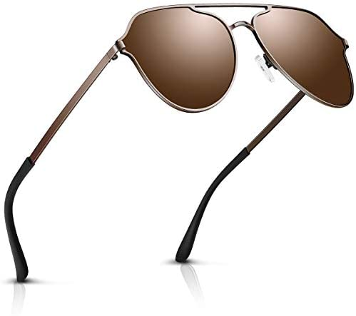 Aviator Sunglasses For Men Polarized Retro Vintage Shades Designer Mirrored For Driving Cycling Brown Buy Online At Best Price In Uae Amazon Ae