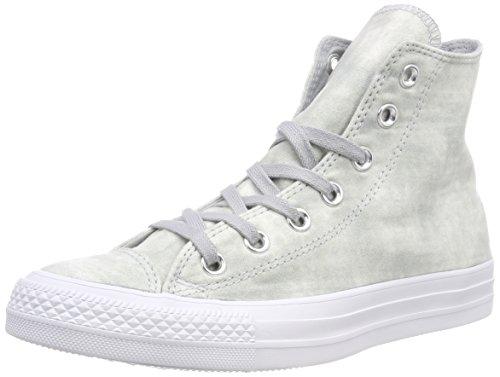 Converse Ctas Hi, Sneaker a Collo Alto Unisex – Adulto Grigio (Wolf Grey/Wolf Grey/White 097)