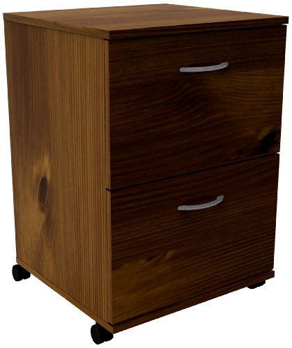 Essentials 2-Drawer Mobile Filing Cabinet 12093 from Nexera, Truffle (Nexera Truffle)