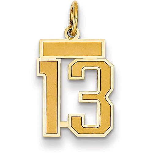 number pendant gold - 3