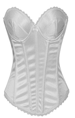 Alivila.Y Fashion Womens Lace Bridal Corset Without G-String 2269A-White-XXL