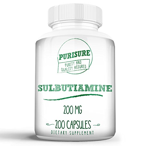 Sulbutiamine 200mg (200 Capsules) | Nootropic | Cognitive Enhancer | Reduce Fatigue | Enhance Memory, Learning, Focus, Concentration | Mood Support | Boost Mental and Physical Energy For Sale