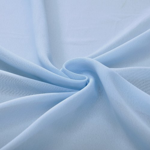 Length Bridesmaid Empire Long A Kornblume Floor Modest Special Blau Dress line Occasion Chiffon xOzqwnTYA