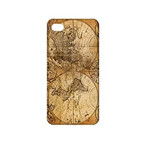 Retro Ancient World Map TPU Case for iPhone 5 / 5S