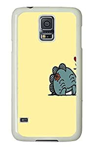 Samsung S5 case protective Cute Animal Anime PC White Custom Samsung Galaxy S5 Case Cover