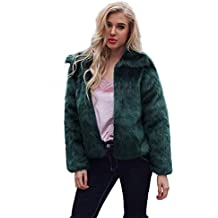 TIFENNY Ladies Fashion Cardigan Womens Hooded Warm Faux Fur Soft Coat Jacket Winter Parka Outerwear