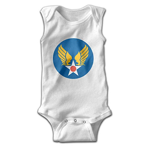 Military Air Forces - United States Army Air Forces Baby's Cozy Bodysuit Sleeveless Unisex Toddler Onesie White