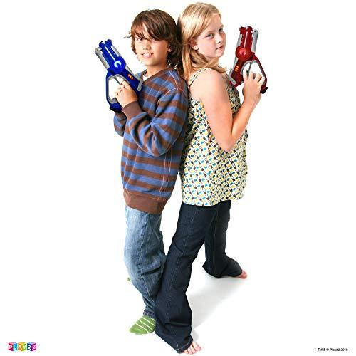 Play22 Laser Tag Sets Gun Vest – Infrared Laser Tag Set 4 Guns 4 Vests – Laser Tag Gun Toys for Indoor Outdoor – Laser…