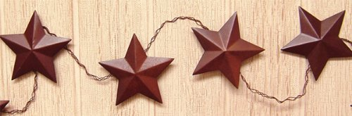 Rusty Star Garland Country Primitive Floral Décor