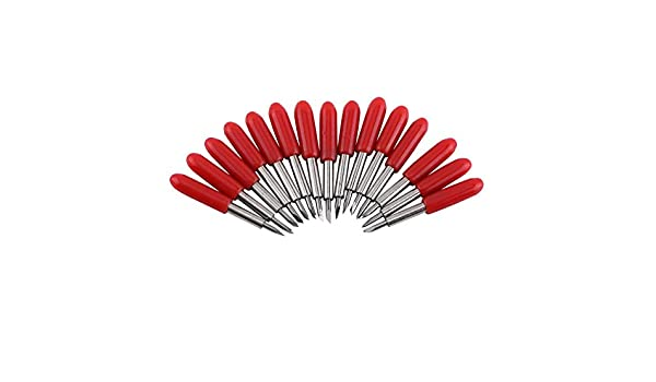 Cuchillas para cortar plotter de 45 grados, color rojo, con ...
