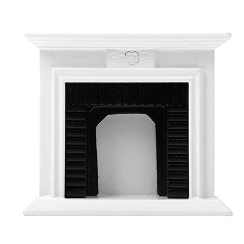 Gold Wing Dollhouse Miniature 1:12 Scale Victorian Wooden Fireplace