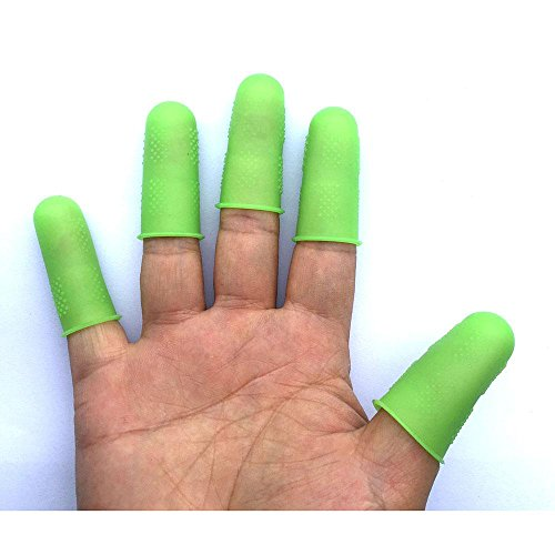 Aolvo Silicone Finger Cots, Thumb and Finger Cots with Food Grade Combined Assorted Sizes for Kitchen Be Free From Heat Slip and Health Pack of 5 by Aolvo (Image #5)