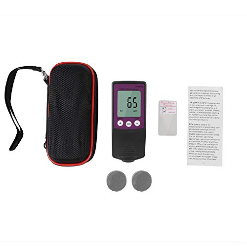 Car Paint Tester Digital Calibration Professional Digital Coating Thickness Gauge High Sensitivity with Resolution 0.1mil for Car Detailing Polishing(purple)