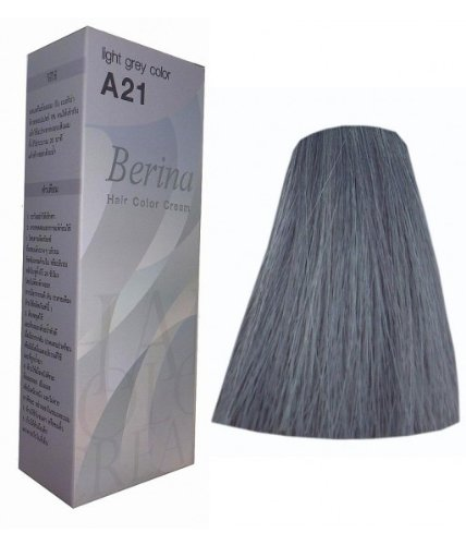 Price comparison product image Hair Colour Permanent Hair Cream Dye Light Ash Grey by Berina
