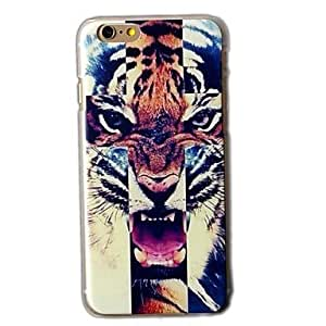 DD The Tiger Background Pattern Hard Cover Case for iPhone 4/4S