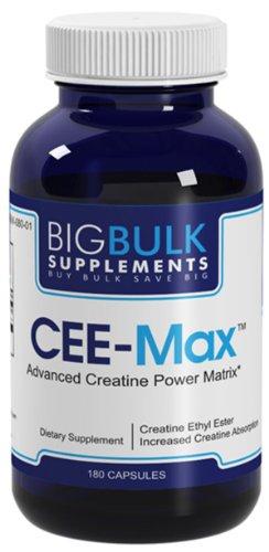 ECO-Max Obtenir 40 fois plus de créatine dans les cellules musculaires en vrac Big suplements Créatine Ethyl Ester HCL 1200mg 180 Capsules 1 Bouteille