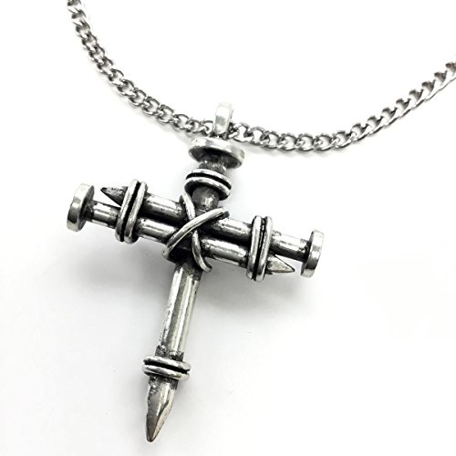 Forgiven Jewelry Pewter Nail Cross on Chain