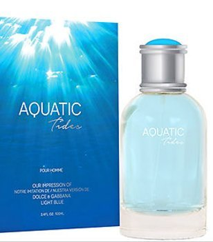Aquatic Tides Men By Preferred Fragrance Inspired by LIGHT BLUE BY D&G FOR - D G And Blue Light